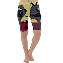 Angry little dog Cropped Leggings