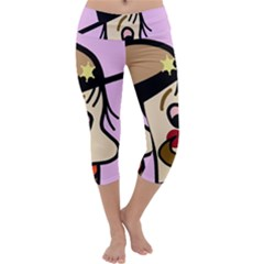 Police Capri Yoga Leggings