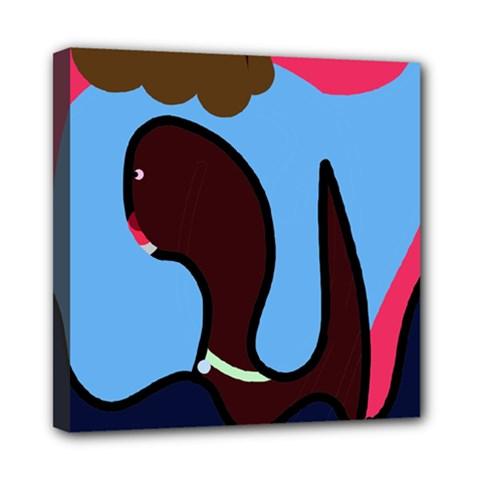 Sea monster Mini Canvas 8  x 8