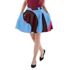 Sea monster A-Line Pocket Skirt