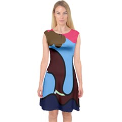 Sea Monster Capsleeve Midi Dress