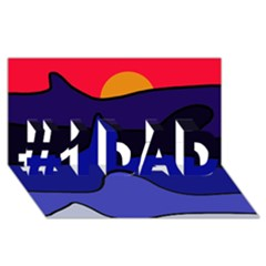 Waves #1 DAD 3D Greeting Card (8x4)