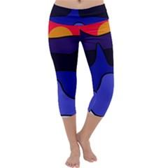 Waves Capri Yoga Leggings