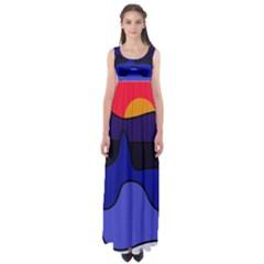 Waves Empire Waist Maxi Dress