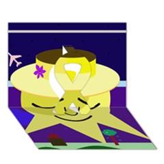 Mr. Sun Ribbon 3D Greeting Card (7x5)