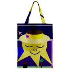 Mr. Sun Zipper Classic Tote Bag