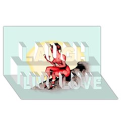 Heart Eater Laugh Live Love 3d Greeting Card (8x4)