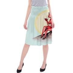 Heart Eater Midi Beach Skirt