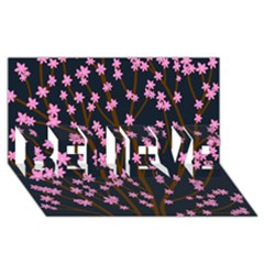 Japanese tree  BELIEVE 3D Greeting Card (8x4)