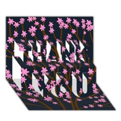 Japanese tree  THANK YOU 3D Greeting Card (7x5)