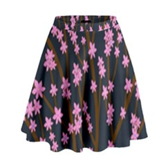 Japanese tree  High Waist Skirt