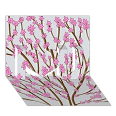 Cherry tree I Love You 3D Greeting Card (7x5)
