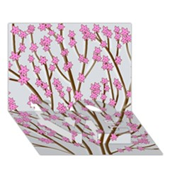 Cherry tree LOVE Bottom 3D Greeting Card (7x5)