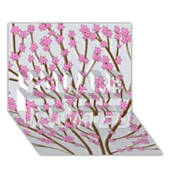 Cherry tree YOU ARE INVITED 3D Greeting Card (7x5)