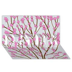 Cherry Tree Best Bro 3d Greeting Card (8x4)