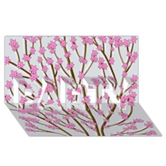 Cherry tree PARTY 3D Greeting Card (8x4)