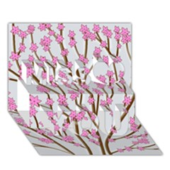Cherry tree Miss You 3D Greeting Card (7x5)