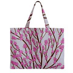 Cherry tree Zipper Mini Tote Bag