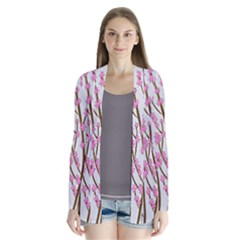 Cherry Tree Drape Collar Cardigan