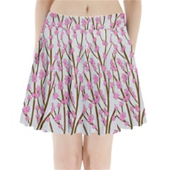 Cherry tree Pleated Mini Skirt