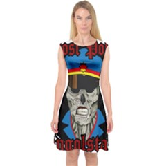 Otto3 Sticker 03 Circle And Black Frames Capsleeve Midi Dress