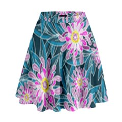Whimsical Garden High Waist Skirt