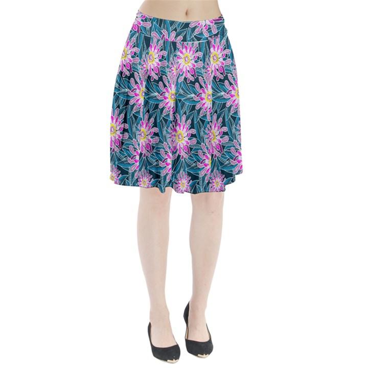 Whimsical Garden Pleated Skirt