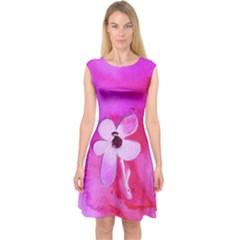 Floralpi Capsleeve Midi Dress