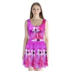 Floralpi Split Back Mini Dress