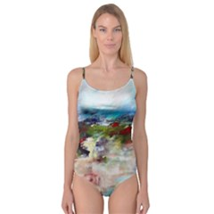 red abstract landscape Camisole Leotard