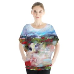 red abstract landscape Blouse