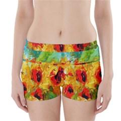 Sunflowers  Boyleg Bikini Wrap Bottoms