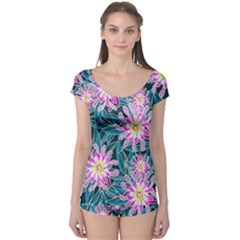 Whimsical Garden Boyleg Leotard