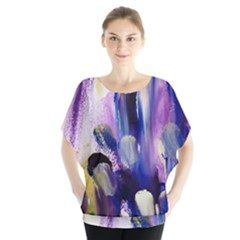 Purple Abstract Print  Blouse