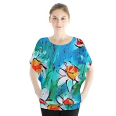 Abstract daisys floral print  Blouse