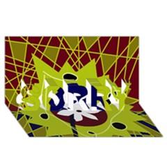 Big bang SORRY 3D Greeting Card (8x4)