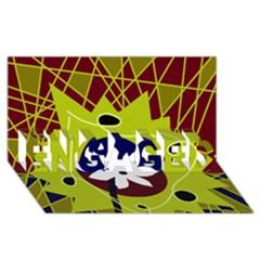 Big bang ENGAGED 3D Greeting Card (8x4)