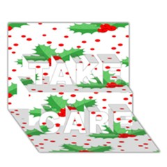 Christmas Decoration Pattern TAKE CARE 3D Greeting Card (7x5)