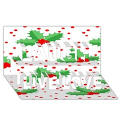 Christmas Decoration Pattern Laugh Live Love 3D Greeting Card (8x4)