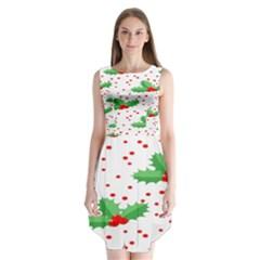 Christmas Decoration Pattern Sleeveless Chiffon Dress