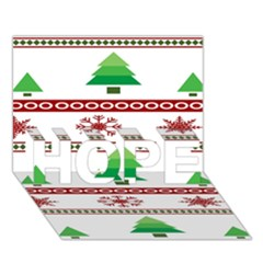 Christmas Trees And Snowflakes HOPE 3D Greeting Card (7x5)
