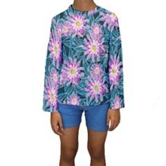 Whimsical Garden Kids  Long Sleeve Swimwear