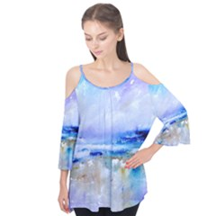abstract purple art prints Flutter Tees