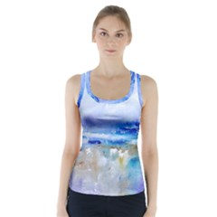 abstract purple art prints Racer Back Sports Top