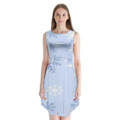 Snowflakes Pattern Sleeveless Chiffon Dress