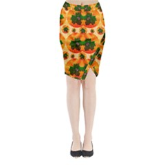 Want To Put Them Back On The Tree Midi Wrap Pencil Skirt