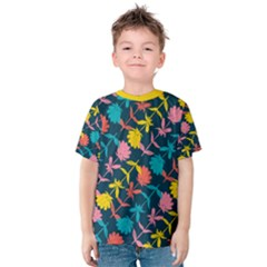 Colorful Floral Pattern Kid s Cotton Tee