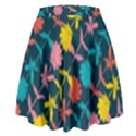 Colorful Floral Pattern High Waist Skirt View2