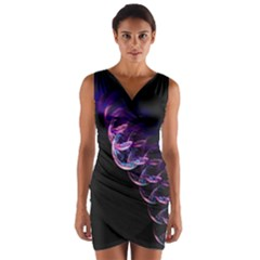 Pink And Purple Bubbles Wrap Front Bodycon Dress