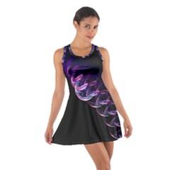 Pink And Purple Bubbles Cotton Racerback Dress